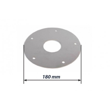 Contre plaque de renfort inox pour montage des platines basses rondes