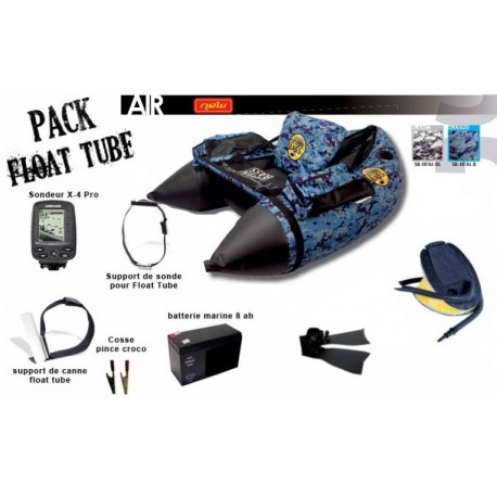 Pack Float tube Seven Bass Air + x4 Pro + accessoires