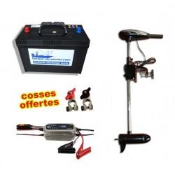 Boutique Pack moteur Rhino 54 lbs + batterie 120 ah et chargeur cteck