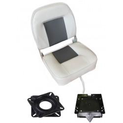 Sièges et fauteuils Fauteuil Pike'n bass gris + platine pivotante + clip amovible