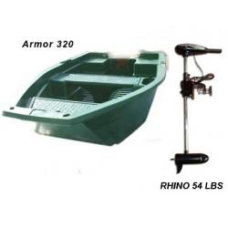 Pack Armor barque Armor 320 + moteur Rhino 54 lbs