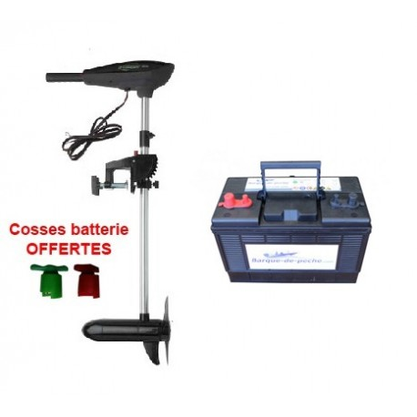 Pack e-thrust 55 + batterie marine 120 ah + cosses OFFERTES
