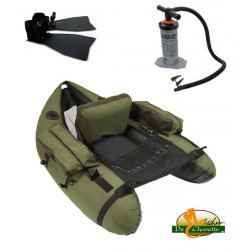 Boutique Pack float tube AX-S STARTER JMC + palmes et gonfleurs