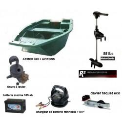 Pack Armor  Armor 320 + moteur R3 55 LBS + Accessoires