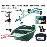 Armor 320 + remorque pack plus + rhino 54 + batterie 120 ah