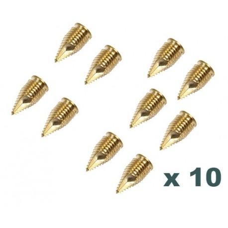 Lot de 10 vis inserts autoperçants M8