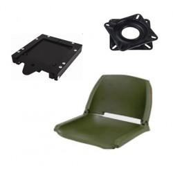 Boutique Pack siège vert avec platine et clip amovible