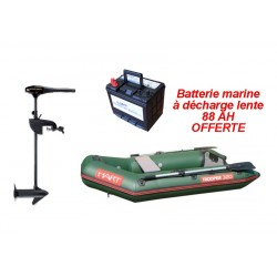 Pneumatique Pack Trooper 320 Hart + moteur Endura C2 V2 55 lbs + batterie offerte 88 ah