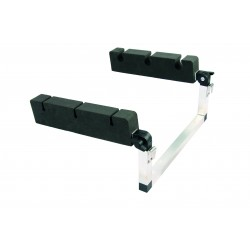 Supports de canne - Portes canne Porte cannes float tube inclinable alu/mousse