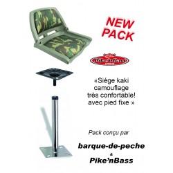 Boutique Pack siège camouflage et pied fixe acier