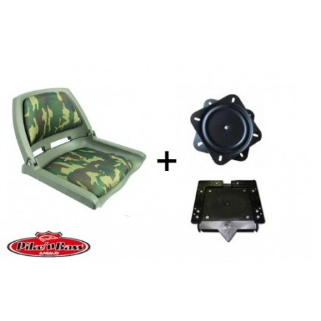 Pack Siège Pike'nBass camouflage platine et clip