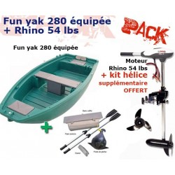 Pack Fun Yak Fun Yak 280 équipée + moteur Rhino 54 lbs