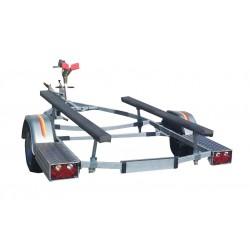 Boutique Remorque MECANOREM basculante avec roues de 13 pouces Feux arrières étanches