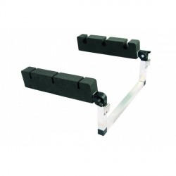 Supports de canne - Portes canne Porte cannes float tube inclinable alu / mousse