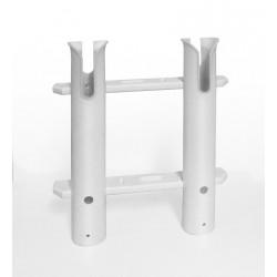 Supports de canne - Portes canne Porte-Canne ouvert PVC - 2 Tubes