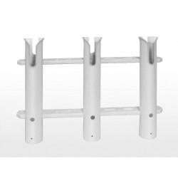 Supports de canne - Portes canne Porte-Canne ouvert PVC - 3 Tubes