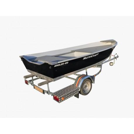 Pack Barque MotoCraft Angler 450 Tiller avec plateforme + remorque