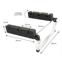 Accessoires Amiaud Porte cannes float tube inclinable alu-mousse