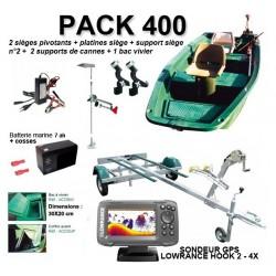 Pack Armor  Pack 400 complet + remorque + SONDEUR GPS LOWRANCE HOOK 2 - 4X