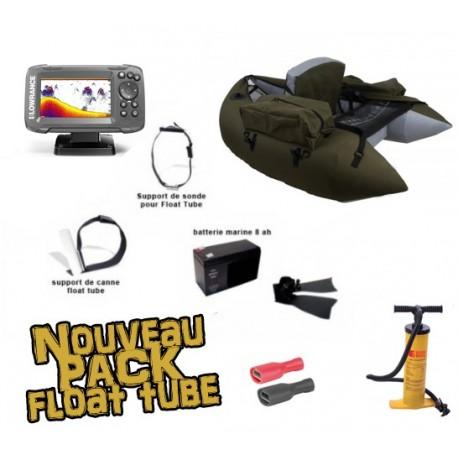 Pack Float tube Float tube Pike'nBass PM vert foncé + SONDEUR LOWRANCE HOOK 2 - 4X + accessoires