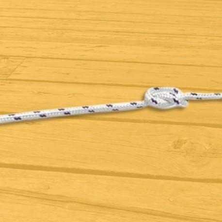 Cordage - Drisse - Ecoute polyester tressé diamètre 08