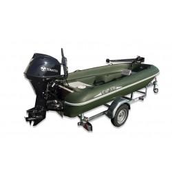 Pack barque Pack bateau Rigiflex Cap 370 remorque moteur thermique et moteur electrique
