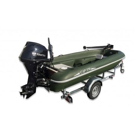 Pack bateau Rigiflex Cap 370 remorque moteur thermique et moteur electrique