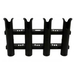 Supports de canne - Portes canne Porte-Canne ouvert PVC - 4 Tubes Noir