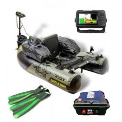 Pack Float tube Pack Float Tube Black Cat Battle Boat avec sondeur et batterie