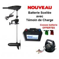 Pack E-thrust 55 + batterie marine 120 ah + chargeur de batterie 110 p+ cosses OFFERTES