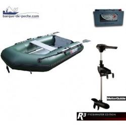 Pack Pneumatique Sun Marine 230 + motorguide R3 30lbs + batterie 65 ah
