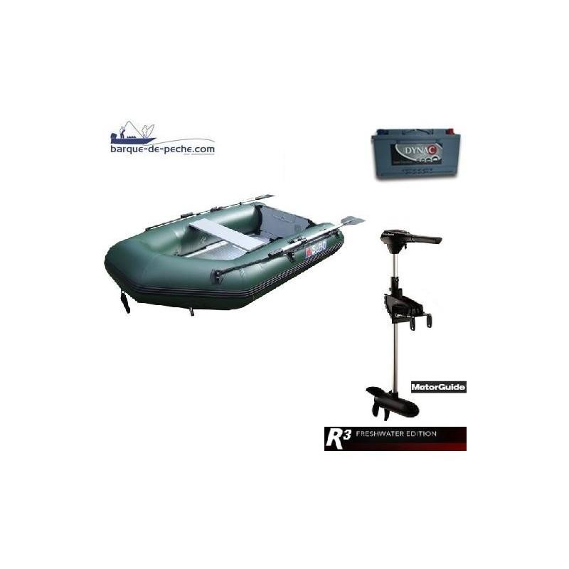 Sun Marine 230 Motorguide R3 30lbs Batterie 65 Ah