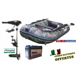 Pack Pneumatique  Sun marine 270 camou + Shakespeare 44 + batterie 80ah