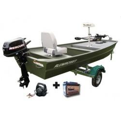 Pack Alumacraft Pack 1236 plateforme avant + remorque + moteurs + Chargeur