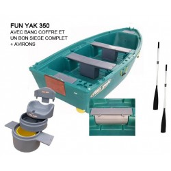 Pack Fun Yak Fun Yak 350 + banc coffre + banc siège + avirons