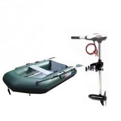 Pack Pneumatique Sun Marine 230 kaki plancher bois + Moteur 44 lbs