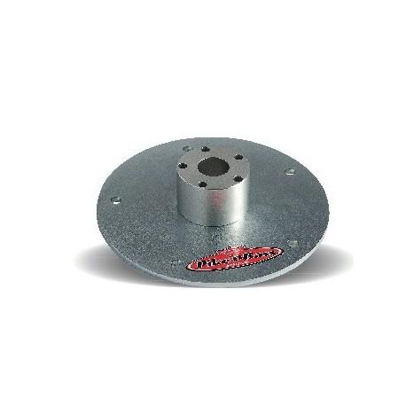 Platine ronde pour pieds sur Tige/Vis Pike'n'Bass acier